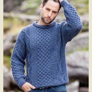 Aran Craft Cable Knit Wool Irish Sweater Large